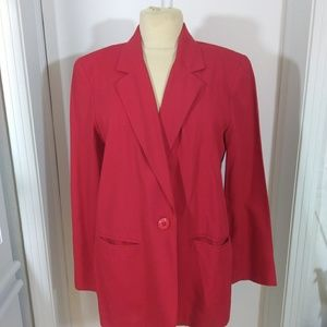 Sag harbor petite size 10p Red jacket unlined